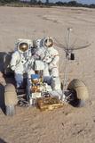 Nasa Astronauts James Irwin and David Scott Testing Lunar Vehicle for Apollo 15  Mojave Desert  197