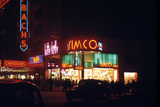 1945: Signs for the Orbach Department Store and Simko Shoe Store in the Union Square  New York  Ny