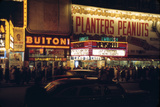 1945: Embassy Theater Showing Newsreel Format Films at Night  Times Square  New York  NY