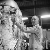 Us Air Force Lt Col David G Simons  with Gondola for Project Manhigh Ii Minneapolis  1957