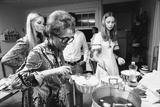 Ford Modeling Agency Owner  Eileen Ford Cooks with Models in Her Mansion  New York  1970