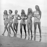 First Miss Universe Contest Contestants Wearing Bathing Suits  Long Beach  CA  1952