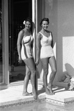 Celia Kyllingstad (R) and Carol Hall (L)  at a Private Pool  Seattle  Washington  1960