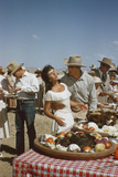 American Actor Rock Hudson Holds Actress Elizabeth Taylor While Filming 'Giant'  Marfa  Texas  1956