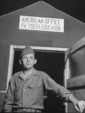 1945: Us Army Pfc Francis Tourtillot at Continental Central Pow Enclosure 15  Attichy  France