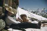 Skiers Smoking  Drinking and Sunbathing at Sun Valley Ski Resort  Idaho  April 22  1947