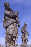 Statues of Prophets Outside the Sanctuary of Bom Jesus Do Congonhas  Brazil