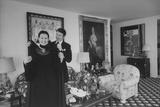 Heiress and Designer Gloria Vanderbilt at Home with Husband Wyatt Cooper  New York  1974