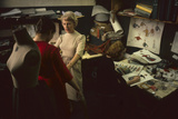 Designer Ricci Kilsdonk Fits a Model in Haymaker Line at David Crystal Inc  New York  1960
