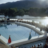 Poolside Fashion Show at the Broadmoor Hotel as Part of 'French Week ' Colorado Springs  Co  1959
