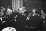 French Designer Christian Dior Drinking with Unidentified Others at a Bar  Paris  November 1947