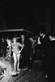 Guests Jump in Swimming Pool at the Last Party at the 'Garden of Allah ' Los Angeles  August 1959