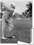 Golfer Ben Hogan  Keeping His Shoulders Level at Top of Swing