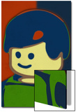Lego Minifigure Girl Pop-Art Poster