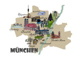 Munich Map Overview Best Of Highlights