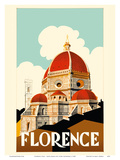 Florence Italy - Santa Maria del Fiore Cathedral  the Duomo of Florence