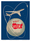 Visit the USSR - Soviet Sputnik Satellites - Russian Antonov Aircraft