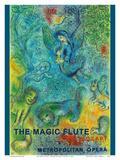 The Magic Flute - Mozart - Metropolitan Opera Reproduction d'art par Marc Chagall