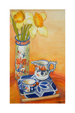 Chinese Vase with Daffodils  Pot and Jug