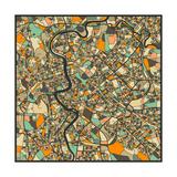 Rome Map Reproduction d'art par Jazzberry Blue