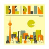 Berlin Skyline Reproduction d'art par Jazzberry Blue
