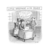 TITLE: Little Investment On The Prairie Prairie family looks at the value  - New Yorker Cartoon