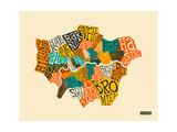 London Boroughs Reproduction d'art par Jazzberry Blue