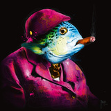 Oncle Sushi Reproduction d'art par Patrice Murciano