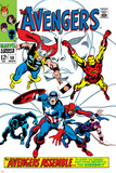 Giant-Size Avengers No1 Cover: Thor  Iron Man  Captain America and Black Panther