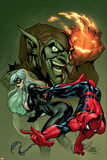 Marvel Knights Spider-Man V3  No10 Cover: Black Cat  Spider-Man and Green Goblin Crouching