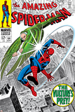 The Amazing Spider-Man No64 Cover: Vulture and Spider-Man Fighting