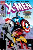 Uncanny X-Men No268 Cover: Black Widow  Wolverine and Captain America