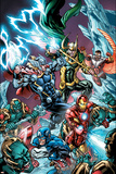 Avengers Assemble Panel Featuring Captain America  Iron Man  Thor  Loki  Falcon