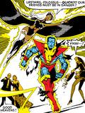 Marvel Comics Retro: X-Men Comic Panel  Colossus  Storm  Charging and Flying