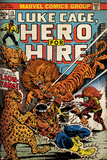 Marvel Comics Retro: Luke Cage  Hero for Hire Comic Book Cover No13  Fighting Lion-fang (aged)