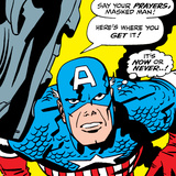 Marvel Comics Retro: Captain America Comic Panel  Villain Monologue  Say your Prayers