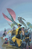 House of M MGC No1 Cover: Wolverine  Cyclops  Gambit  Spider-Man  Captain America and Others