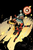 Deadpool 15 Cover: Deadpool  Wolverine  Captain America