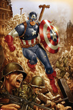 All-New  All-Different Avengers No4 Cover and Featuring Captain America