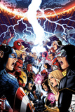 Avengers Vs X-Men No1 Cover: Captain America  Cyclops  Emma Frost  Gambit and Others Screaming