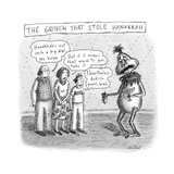 The Grinch Who Stole Hannukah -- A family shames a Grinch for stealing the - New Yorker Cartoon