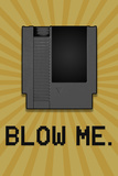 8-Bit Video Game Cartridge Blow Me