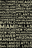 National Football League Cities Vintage Style