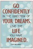 Live the Life You Have Imagined Thoreau Quote