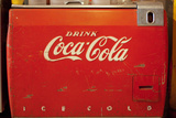 Vintage Drink Coca Cola Ice Cold Coke Vending Machine Photo Poster