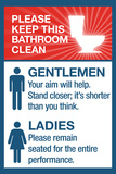 Clean Bathrooms Ladies Gentlemen