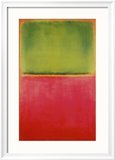 Vert, rouge sur fond orange Reproduction encadrée par Mark Rothko