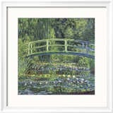 Water Lily Pond, 1899 (blue) Reproduction encadrée par Claude Monet