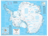 2014 Antarctica Political - National Geographic Atlas of the World, 10th Edition Reproduction d'art