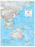 2014 Asia Pacific - National Geographic Atlas of the World, 10th Edition Reproduction d'art